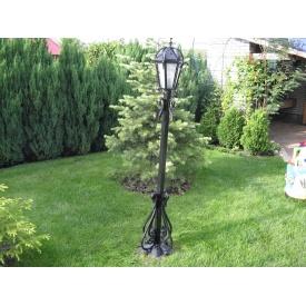 Кованый парковый фонарь