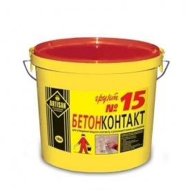 Грунт з кварцовим наповнювачем Artisan Бетонконтакт № 15 10 л світло-бежевий