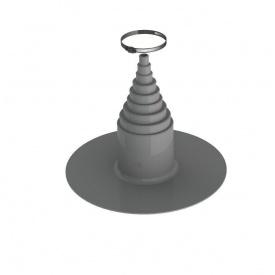 ПВХ-уплотнитель для кровель VILPE 12 мм темно-серый