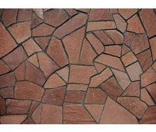 Природный камень песчаник 25 мм коричневый с разводами