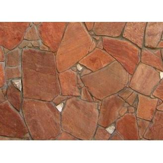 Камень природный песчаник 40 мм красный