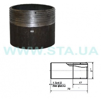 Резьба короткая стальная С.Т.А. 50 мм