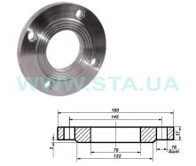 Фланец С.Т.А. плоский стальной Ру10 65 мм