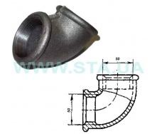 Угольник чугунный С.Т.А. В-В 50 мм