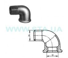 Угольник чугунный С.Т.А. В-Н 15 мм