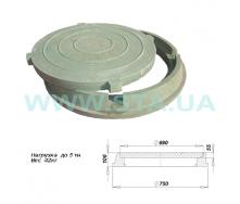 Люк полимерпесчаный легкий С.Т.А. 100x750 мм 5 т зеленый