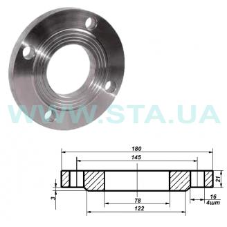 Фланец С.Т.А. плоский стальной Ру16 65 мм