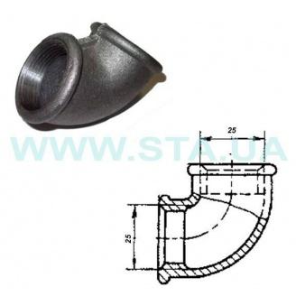 Угольник чугунный С.Т.А. В-В 25 мм