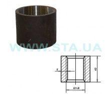 Муфта С.Т.А. прямая стальная 40 мм