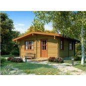 Проект річного дерев'яного гостьового будиночка 62 м2
