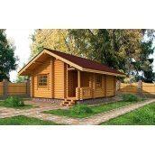 Будиночок для охорони з оциліндрованих колод 35 м2