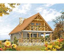 Проект каркасного будинку з мансардою 89,6 м2