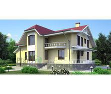 Проект каркасно-щитового дома с мансардой 366 м2
