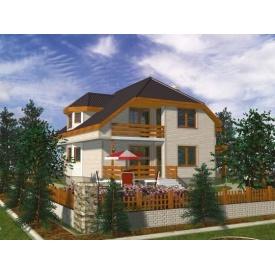 Проект каркасного двухэтажного дома 193,9 м2