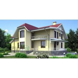 Проект каркасно-щитового будинку з мансардою 366 м2