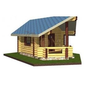 Проект деревянной беседки 4*6 м