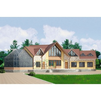 Проект деревянного отеля 534,4 м2