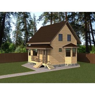 Проект дома из профилированного бруса с мансардой 87,4 м2