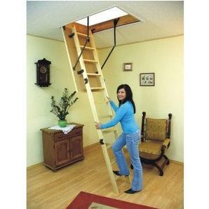 Чердачная лестница Oman Standard из бука 120x60 см