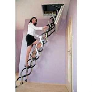 Чердачная лестница Oman Ножничная LUX 70x120 см