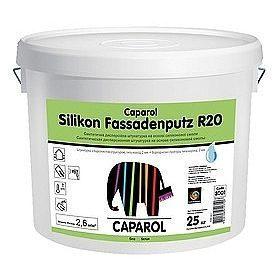 Штукатурка дисперсионная Caparol Silikon Fassadenputz R 20 белая