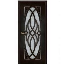 Дерев'яні двері ПВХ Sherwood Жасмин 600 мм венге