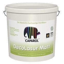 Краска лессирующая Caparol DecoLasur Matt 5 л белая