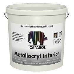 Фарба дисперсійна Caparol Capadecor Metallocryl Interior 5 л срібний металік