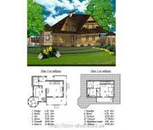 Деревянный жилой дом с мансардой