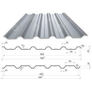 Профнастил Сталекс НС-35 1100/1065 мм 0,50 мм AlZn Люксембург (Arcelor Mittal)