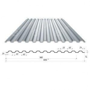 Профнастил Сталекс С-21 1095/985 мм 0,4 мм Zn Румунія (Arcelor Mittal)