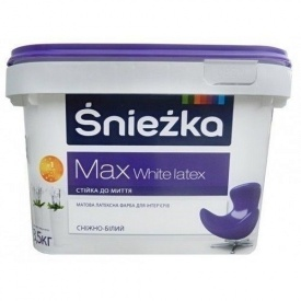 Матовая латексная краска Sniezka Max White latex 14 кг снежно-белая