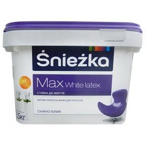 Матовая латексная краска Sniezka Max White latex 1,4 кг снежно-белая