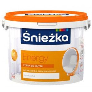 Матова латексна фарба Sniezka Energy 14 кг сніжно-біла
