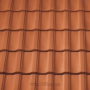Керамічна бічна права черепиця Tondach Болеро Угорщина 300х500 мм коричнева