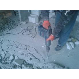 Демонтаж бетонної стяжки підлоги