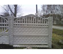 Забор декоративный железобетонный №7 Арка кирпичная 2х2 м