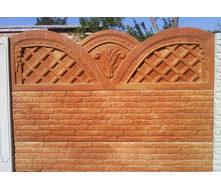 Забор декоративный железобетонный №9 Овен 2х2 м