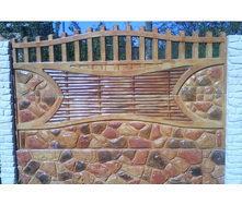 Забор декоративный железобетонный №8 Камень-галька узорчатая 2х2 м