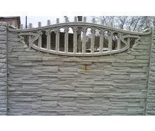 Забор декоративный железобетонный №10 Песчаник арочный 1,5х2 м