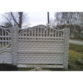 Забор декоративный железобетонный №7 Арка кирпичная 1,5х2 м
