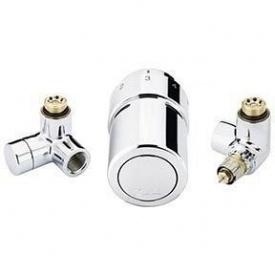 Комплект для підключення до рушникосушки справа Danfoss RAX-set хромований (013G4132)