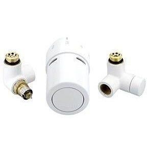 Комплект для подключения к полотенцосушителям слева Danfoss RAX-set белый RAL9016 (013G4137)