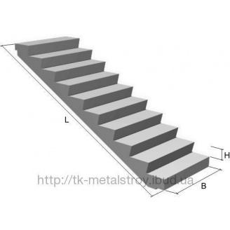 Лестничный марш 2ЛМФ 39-12-17-5 бетонный