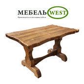 Стол под старину Волна 75х80х120 см