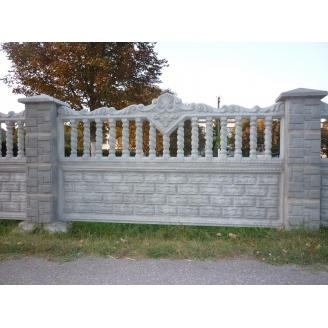 Декоративный бетонный забор для дома