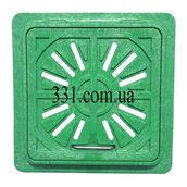 Люк-мини пластмассовый квадратный решетка 300х300 мм (13.08.3)