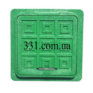 Люк пластмасовий квадратний 500х500 мм зелений (13.08.41)