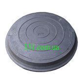 Люк легкий канализационный полимерпесчаный 2 т черный (14.22)