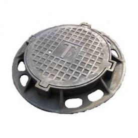 Люк чавунний каналізаційний важкий В-Д 26 т з замком (2.05.1)
